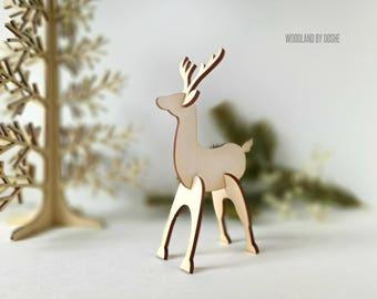 Gorgeous 3D laser cut Deer / Woodland nursery decor / Woodland deer / Forest animals / Woodland animals / Laser cut Deer / Woodland forest
