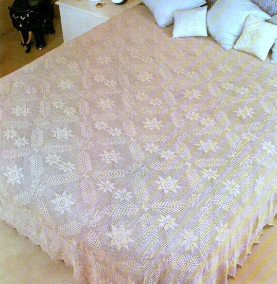 Schema pdf copriletto filet a uncinetto decorazioni per - Descrizione camera da letto in inglese ...