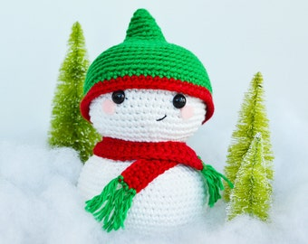 Snowman Crochet Pattern. Sid The Snowman Crochet Pattern. Christmas Amigurumi Crochet. Christmas Downloadable PDF Crochet Pattern