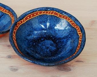 Small bowl, ceramic bowl, Serving dishes, Candy dish, Trinket dish, Wedding gifts, Blue bowl, Decorative Bowl, Birthday gift, Mom Gift.