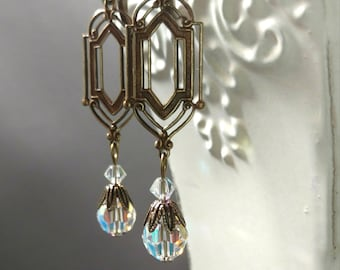 Art Deco Wedding Earrings - 1920s Jewelry - Art Deco Jewelry - Bridesmaid Gift - 1920s Earrings - Gifts for Her - Womens Jewelry