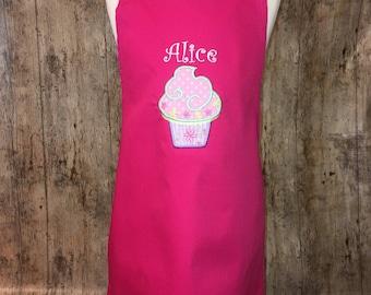 Personalised Cupcake and Name Apron