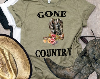 She's Gone Country, Country Music, Song Lyrics, Western, Cowgirl, Rodeo, Country Song Shirt, Alan Jackson, Western Graphic Tee, Cowboy Boots