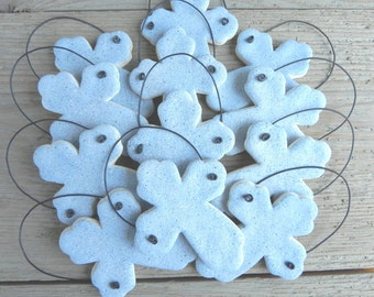 Baptism Favors Set of 6 Cross Salt Dough Ornaments