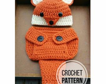 Fox Newborn Outfit CROCHET PATTERN