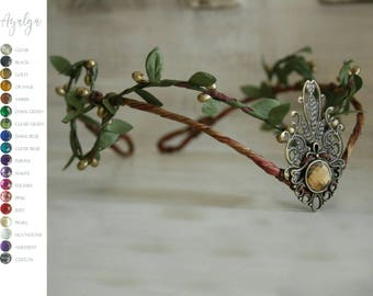 Woodland elf tiara - elven headpiece - fairy crown