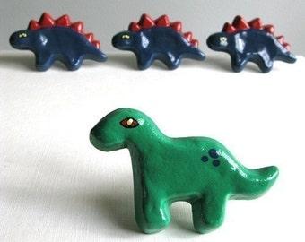 Green Brontosaurus - Dresser Drawer Knob - pull for furniture