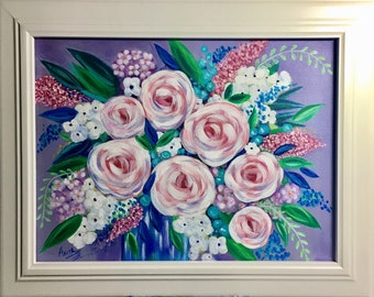 Soft Color Impressionistic floral painting