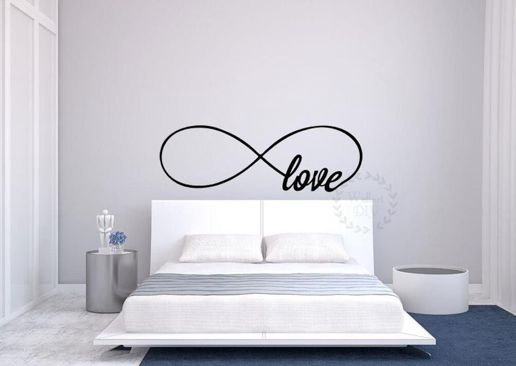 Infinity love wall decals Bedroom wall stencils Modern wall