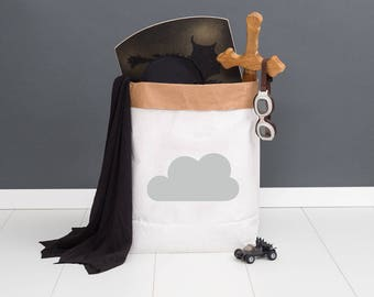 Paper bag M - cloud grey - powder cloud