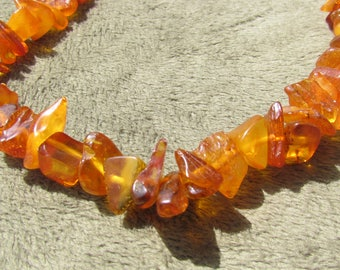 Antique Amber Necklace, Victorian Jewelry, 1800's Jewelry, Baltic Amber