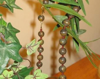 Shades of Brown  Semiprecious Artisan Necklace.