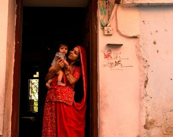 India: Woman and baby