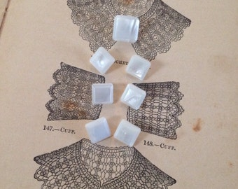 Darling Mother of Pearl set of Buttons. Square.