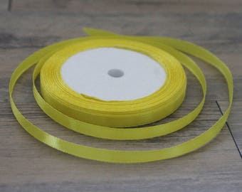 20 m yellow 6mm satin ribbon