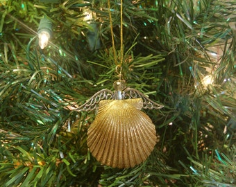 Angel Décor - Angel Ornament - Beach Ornament - Shell Angel -Seashell Ornaments -Christmas Angel Ornament –Stocking Stuffer –Beach Christmas