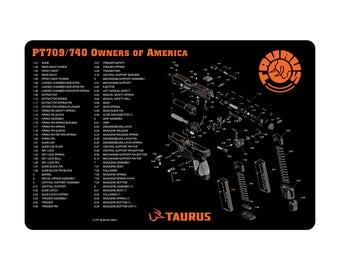 Gun Cleaning Mat PT709/740 Owners of America Taurus Maintenance Firearm Pistol