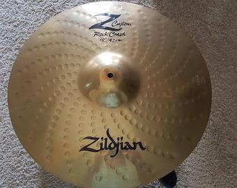 """Zildjian Z Custom Rock Crash 18 """" Cymbal Free Shipping"""