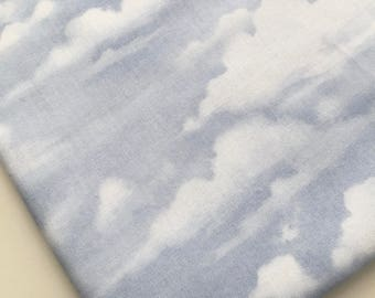 Sky Fabric, Bringing in the Harvest Fabric, Sky and Cloud Landscape Fabric, Wilmington Prints OOP, HTF, Rare