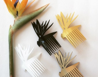 Bird of Paradis Hair Comb