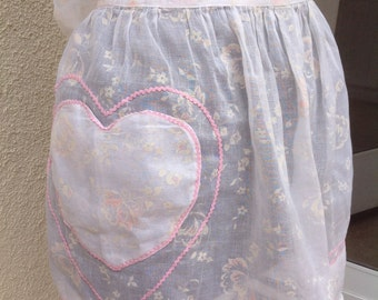 Hostess Apron Vintage Organza
