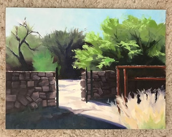 Rock Wall and Gate, Corral, Landscape