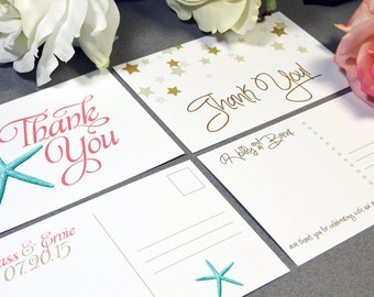 Thank You Postcards, Thank You Post Cards, Wedding Cards, Wedding Thank You, Bridal Thank You, Shower Thank You, DIY Printable or Printed