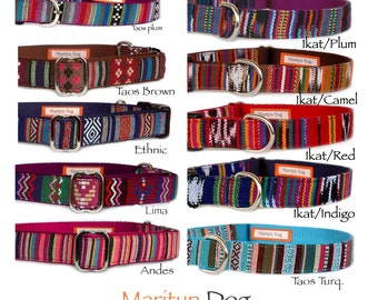 Dog collar Embroidered style fabric dog collar Southwestern Navajo Aztec Ethnic boho bohemian unique custom dog collar for boy dog girl dog