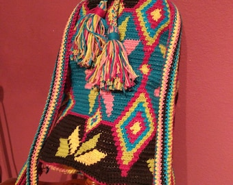 Crochet bag wayoo, Mochila wayoo crochet, Mochila ganchillo