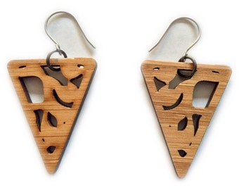 Small Bamboo Triangle Earrings KSE121012