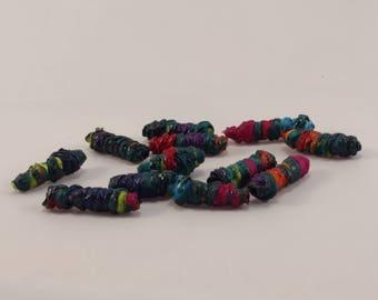 Melted Fabric Beads