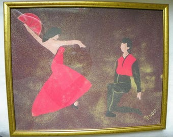"Sand painting ""Dance On"""