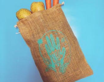 Skeleton Marigold Sack | Vegetable Sack | Bag for life | Drawstring Bag
