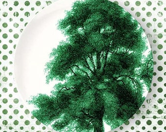Tree, Emerald Green plate