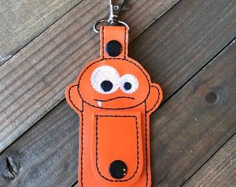 Monster Cord Organizer, Monster Ear Bud Holder, Earbud Holder, Monster Ear Bud Wrap, Earphone Holder, Monster Cord Wrap Keychain