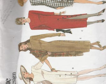 Vogue Basic Design 1010 Vintage Pattern Womens Semi FItted Dress in 5 Variations Size 6,8,10 UNCUT