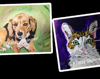 Pet Painting Acrylic Portrait of animal