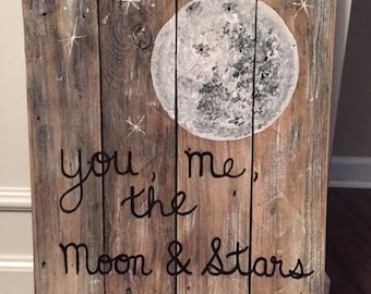 You, me, the moon & stars sign