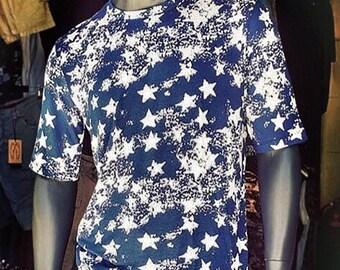 Mens Muscle Shirt-  Slim Fit Shirt, Mens Graphic Tee, Trendy Mens Clothing, Mens Fashion, Mens Slim Fit Shirt,  Mens Star Print Shirt