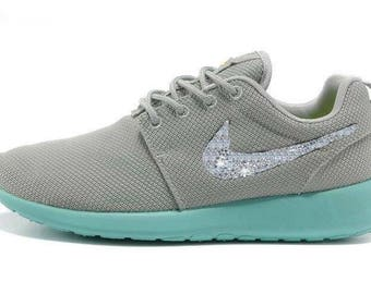 Blinged Out Gray & Teal Roshe