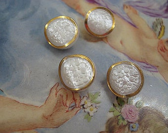 Fabulous Textured Pearl Like Buttons European Find