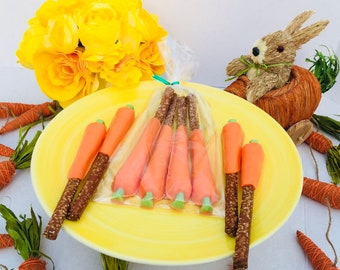 Easter Chocolate Carrots, Easter Basket Stuffers, Easter Gifts, Easter Basket, Easter Treats