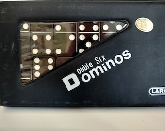 Larco Double Six Black chunky Dominoes