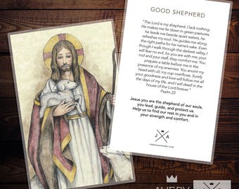 The Good Shepherd Prayer Card