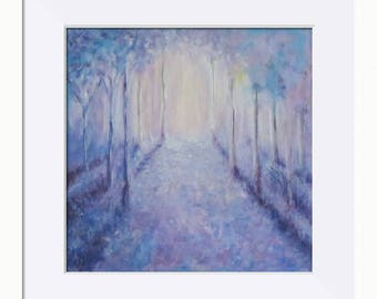 Into the Light, Woodland Picture - Limited Edition Fine Art Print, Original Artwork by Tracey Zorek