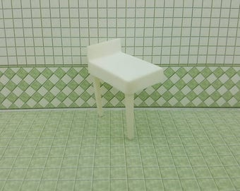Eagle Toy Canada Bathroom Counter  Rare White for Double Sink soft plastic