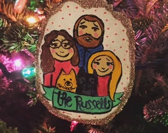 Personalized Handmade Holiday Ornament