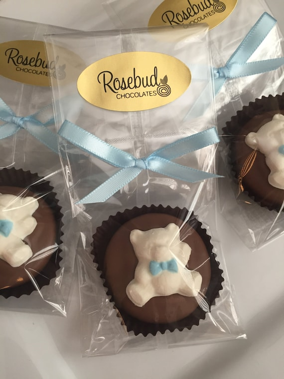 12 Teddy Bear Chocolate Covered Oreo Cookie Favors Baby Shower