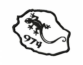 Program for machine embroidery design embroidery island of REUNION 974 lizard gecko (file)