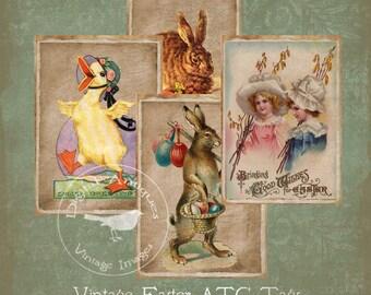Vintage Easter Tags Printable Instant Digital Download
